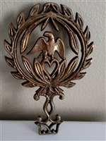Vintage brass Eagle and heart trivet