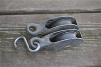 Cast iron double pulley