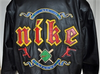 1995 MBL Leather Nike All League jacket