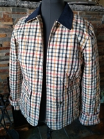 Plaid Talbot petite jacket in quilted design sz Lp