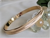 Monet bangle bracelet satin and shimmering gold
