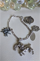 Italian Sterling 926 bracelet with charms OREGON