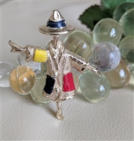 Sarah Coventry 1960 scarecrow colorful brooch