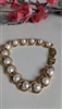 Napier gold tone bracelet with faux pearls jewelry