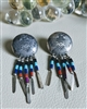 Navajo sterling Thunderbirds stud earring signed
