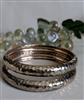 Bohemian style bangle bracelet in set of two
