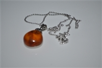 Baltic Amber pendant with sterling silver chain