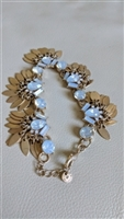 Halogen leaf tassel bracelet with opalescent glass