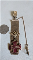 Masonic exonumia medal with watch fob Barrows H F