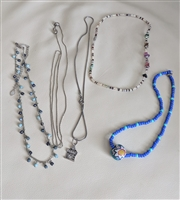 Vintage used lot of 5 various necklaces chokers