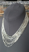 Metal beads vintage waterfall necklace great  look