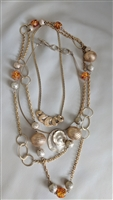 Hollywood Regency elegant 3 vintage necklaces set