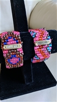 Colorful beaded two stretch bracelets Hollister