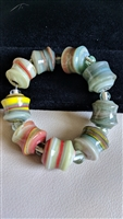 Glass beads colorful stretch bracelet