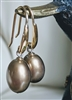 MONET satin gold drop balls elegant earrings set