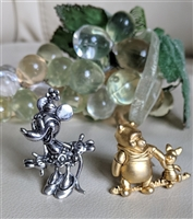 Disney Minnie and The Pooh with piglet brooches