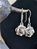 Sterling 925 rose dangle primitive earrings Mexico
