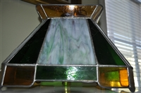 Stained Slag glass ceiling lamp with shade