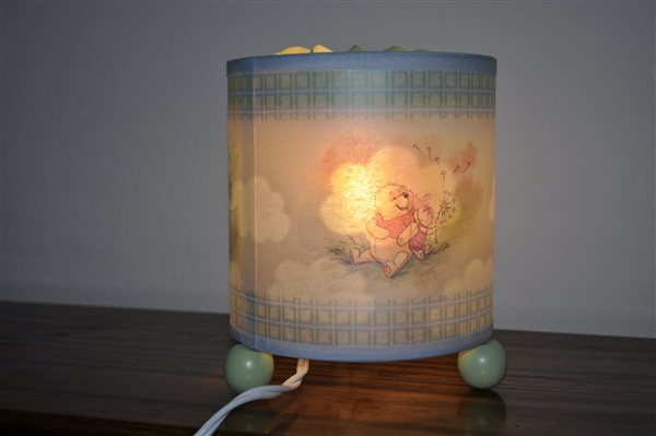 Winnie the pooh rotating screen lamp aloadofball Images