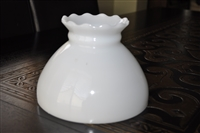 White milk glass vintage lamp shade simple decor