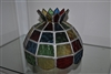 Textured stained glass lamp shade colorful design