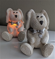 Pearl color set of two Bunnies night light lamps