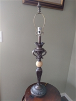 Tall table lamp with Onyx accent