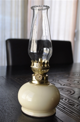 Italian mini glass hurricane oil lamp