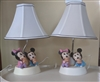 Baby Mickey and Minnie lamps with shades Disney