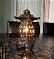 Cast iron Pagoda shaped electric lamp display