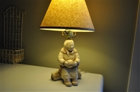 Lamp Inuit woman