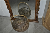 Asian wedding wicker basket with lid