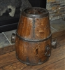 Antique Asian merchant wooden bucket