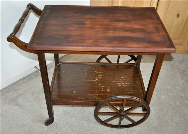 Fresh Vintage wooden bar serving cart KO26
