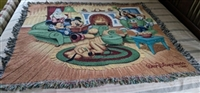 Walt Disney World tapestry throw Mickey Donald etc