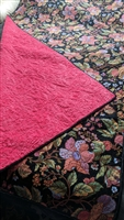 Amazing floral pattern quilt blanket with plush