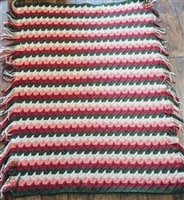 Amazing striped knitted reversible blanket cover