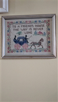 Needlepoint carriage with horses nice design