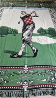 GOLF theme art tapestry throw blanket