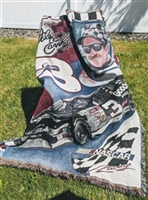 Dale Earnhardt Sr racing tribute throw NASCAR 2001