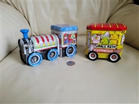 Bears and Bubbles tin money bank cart on wheels