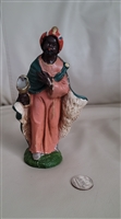Italian resin merchant king figure Nativity decor