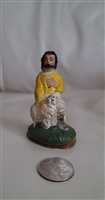 Soft rubber kneeling Joseph vintage figure decor