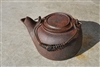 Vintage cast iron kettle with lid