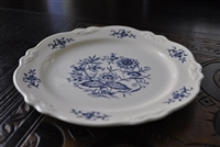 Imperial Blue Dresden dinner plate by H Laughlin