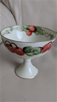 Antique Austrian O and EG dessert server cherries