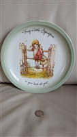 Holly Hobbie large decorative plate 1972