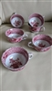 Spode Camilla Copeland English teacups pink red