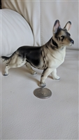 Porcelain standing German Shepherd dog figurine