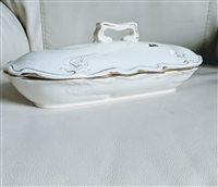 Sarreguemines Depose 8K lidded porcelain server